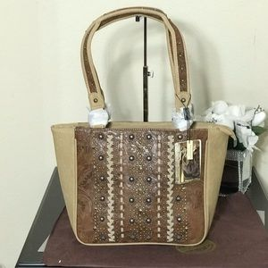 Montana West Embossed Collection Tote